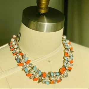 Zara Garland Pearl Collar Statement Necklace